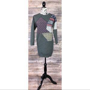 & other stories sweater dress knit winter pattern